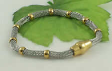 Gatik BR1010 316L Ladies Stainless Steel Chain Mesh Bracelet With Magnetic Clasp