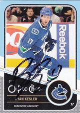 Ryan Kesler Autograph 11-12 OPC Canucks Card Ducks