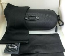 Oakley Sunglasses/Eyeglasses Hard Zipper Case w/ cleaning cloth and dust bag