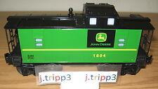 LIONEL 6-81484 JOHN DEERE JD GREEN CABOOSE O GAUGE TOY TRAIN CAR LIGHTED 6-81480