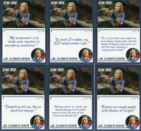 Star Trek Archives & Inscriptions card #14 Dr Elizabeth Dehner 17 different Var