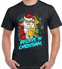 Believe In Christmas - Mens Funny T-Shirt Secret Santa Father Xmas