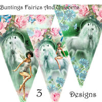 Party Bunting Unicorn And Fairies Garland Magical Enchanted party birthday
