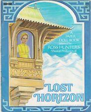 VINTAGE 1973 LOST HORIZONS PAPER DOLL RARE UNCUT ORG SZ LASER REPRODUCTION NO1