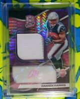 2019 Panini Spectra Neon Pink #209 Damien Harris Auto Patch /25 RPA Pats