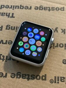 Apple Watch Gen 1 Series 7000 42mm Silver Aluminum Case *Image Burn, Works*