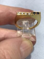 18k ring size 6 With 0.20pt Diamonds 3.7gr#3822