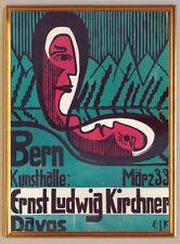 PLAKAT Bern Kunsthalle: Ernst-Ludwig Kirchner Expressionismus 227XL Goldrahmen