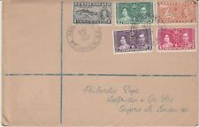 1937 NEWFOUNDLAND Geo VI Coronation SG254-6+257-8 Stamps FIRST DAY COVER Ref:C32