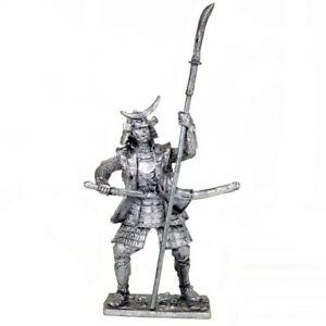Samurai 1600 year. Tin toy soldiers. 54mm miniature figurine. metal sculpture