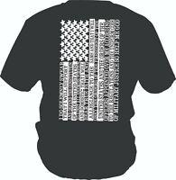 MILITARY AMERICAN T shirt  T-Shirt OATH AMERICAN FLAG ARMY USA S-XXXL not Grunt