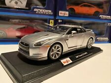 2009 Nissan Skyline GT-R (R35) Silver 1/18 Scale Maisto Special Edition. New