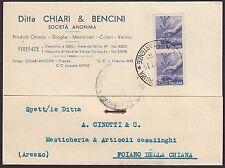 AA4318 Ditta Chiari & Bencini - Firenze - Cartolina Pubblicitaria - Postcard