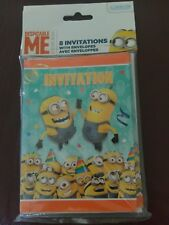 Despicable Me Minions Invitations with Envelopes Bob Birthday Party Supplies 8ct