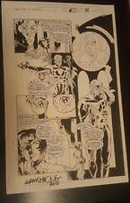 2099 World of Tomorrow Original Comic Art Page Signed Spiderman