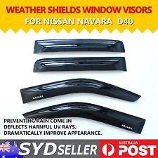 Car Window Visors Smoked Rain Sun Guard Weathershields For Nissan NAVARA D40 UTE