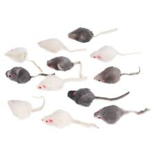 New listing 12Pcs Cat Toy Fake Mouse Plush Fake Mice Fake Mouse for Pet Playing Kitten Cat