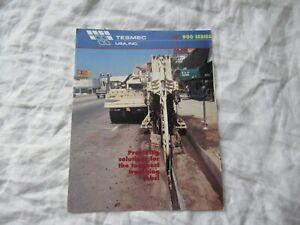 Tesmec TRS 900 Trenchers trenching equipment brochure