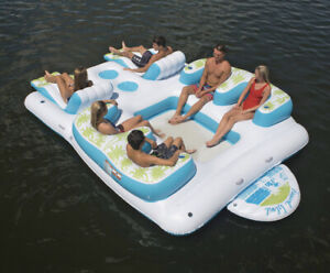 6-Person Tropical Tahiti Floating Island - 1 built-in boarding platform