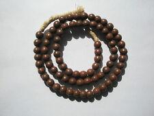 Antique Prosser Chestnut Brown Glass Trade Beads - 8mm - Strand