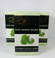 Maxi Ginkgo Biloba 10000mg 100 Capsules (3 Pack) by BH - Brain & Memory Health