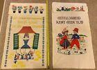 Vintage Dutch Wall Hanger Tapestry WWII World War 2 Windmill Tulip Clogs Holland