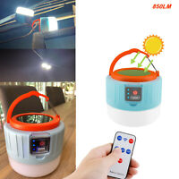 Solar LED Camping Lantern USB Rechargeable Emergency Tent Light Bulb Flashlight