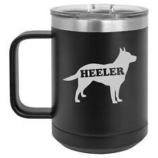 15oz Tumbler Coffee Mug Handle & Lid Travel Cup Australian Cattle Dog Heeler