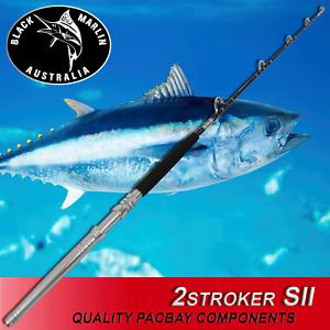 SHORT STROKER Trolling Game Fishing Roller Rod 24kg Lures etc MARLIN TUNA Dolly