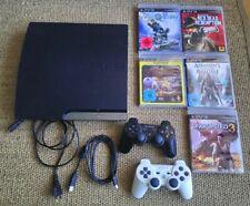 Playstation 3 Slim Konsole 320 GB, 2 Controller, 5 Spiele
