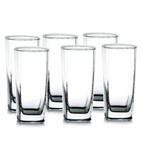 Wiltshire Plaza Glasses Set of 6 Long Drinking Tumbler Glasses 405ml