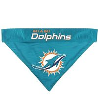 Miami Dolphins NFL Licensed Pets First Dog Pet Reversible Bandana 2 Sizes