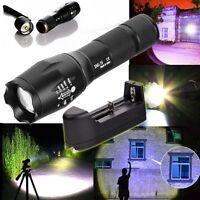 5000lm T6 LED Summen-Taschenlampe Tactical Taschenlampe Zoom Lampe + Case neue