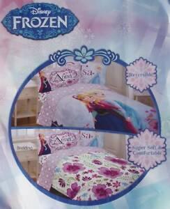 DISNEY FROZEN MOVIE ANNA ELSA FLORAL PURPLE TWIN COMFORTER SHEETS BEDDING NEW