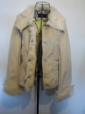 ( NEW ) A LOVELY STYLISH WOMEN'S  CENTIGRADE FAUX FUR & SUEDE COAT SIZE SMALL