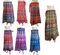 Indian Women Skirt Long Wrap Around Ethnic Floral Rapron Printed Cotton Mandala