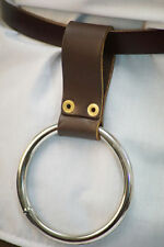 Re enactment-LARP-SCA-Cos-Play-LARGE WEAPON HOLDER/RING with belt loop