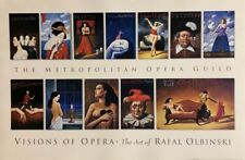 RAFAL OLBINSKI Visions of Opera Poster Offset Lithograph 24″ x37″ Polish Artist