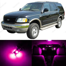 16 x Pink LED Interior Light Package For 1997 - 2002 Ford Expedition + PRY TOOL