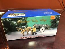 """Heartland Valley Deluxe Christmas Village Accessory """"Horse Drawn Cart� New"""