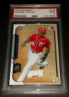 2015 Bowman #139 Michael Taylor Rookie PSA 9 Mint