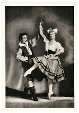 1955 Lopukhina and Kuznetsov Kirov Ballet RARE Russian Photo RPPC postcard