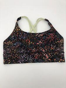 Lululemon Womens Energy Bra Size 10 Multicolored Floral Activewear