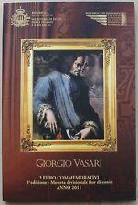 2 euro-san marino - 2011-folder-Giorgio Vasari-nuevo