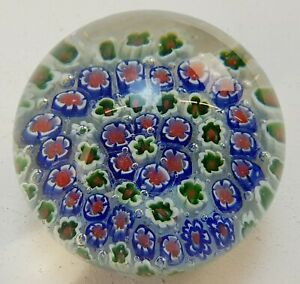 Vintage Millefiori Glass Coloured Paperweight no Visible Makers Mark FREE UK P&P