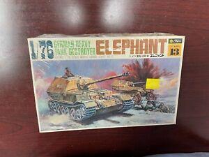 VINTAGE FUJIMI 1/76 SCALE GERMAN HEAVY TANK DESTROYER ELEPHANT MODEL KIT wa13