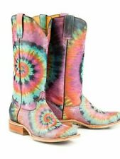 be0fd58e026 Tin Haul Women s BRAND NEW Groovy Boots w  Tie Died Camper Soles -Size 7.5