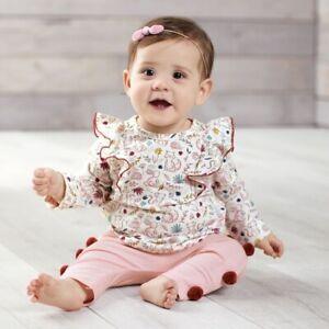 Mud Pie H9 Kids Girl Pink Forest Pants T-shirt 2 Piece Set 11010166 Choose Size