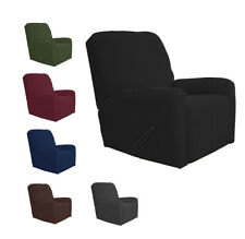 1 Piece Velvety Soft Stretch Recliner Chair Slip Cover New