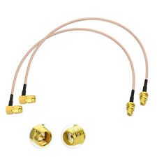 2XSMA Buchse auf SMA Stecker RF Kabel 30CM für DAB Auto Radio Homematic Antenne